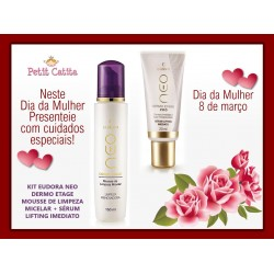 Kit Eudora Neo Dermo Etage: Mousse Micelar + Sérum Lifting val.07/2022