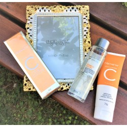 Kit Renew Vitamina C: Máscara + tônico + sérum + Toalhinha decorada  V.12/2022